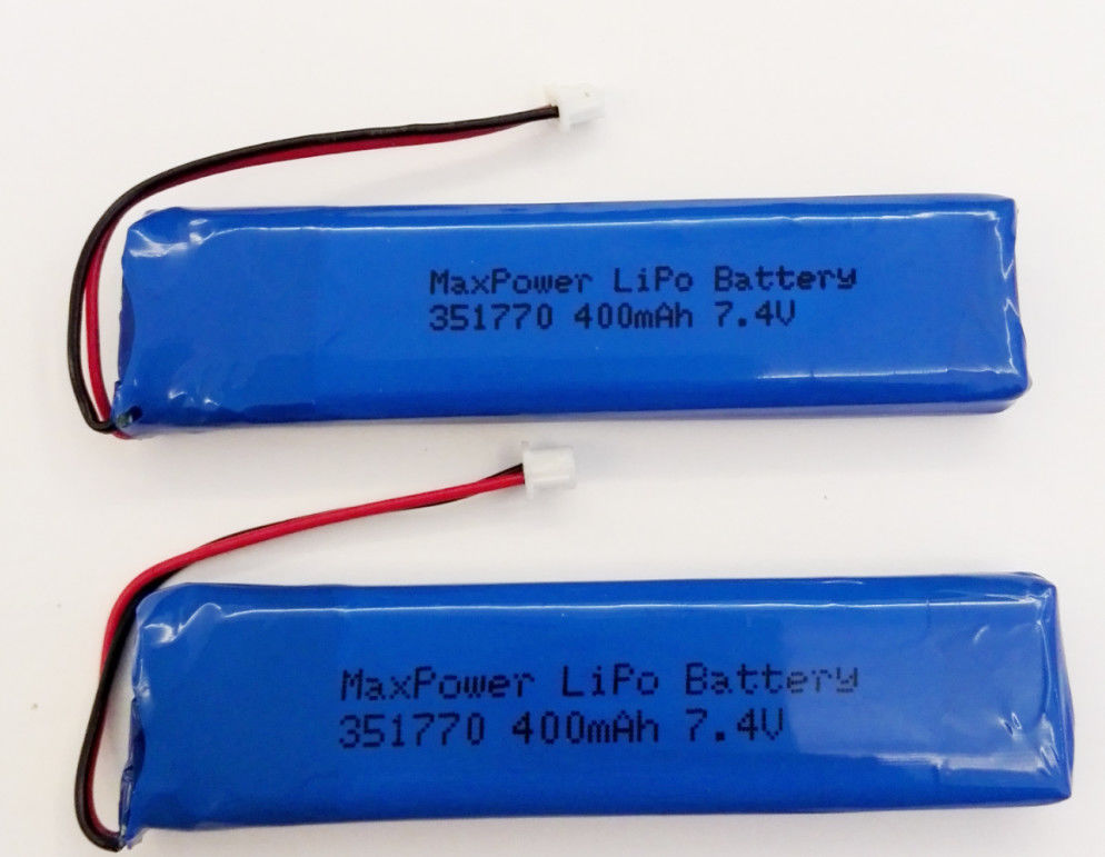 351770 MSDS UN38.3 400mAh 7.4V Lithium Polymer Battery
